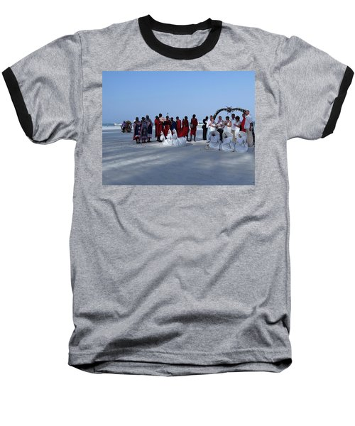 Kenya Wedding On Beach With Maasai Baseball T-Shirt