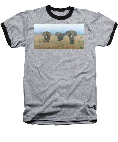 Kenyan Elephants Baseball T-Shirt