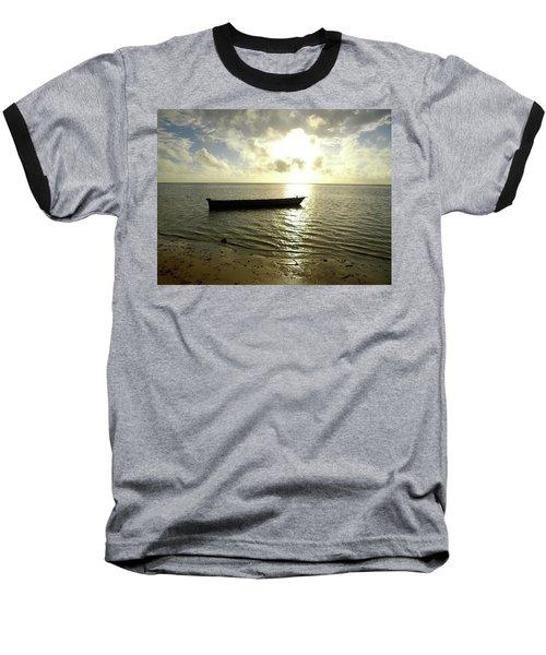 Kenyan Wooden Dhow At Sunrise Baseball T-Shirt by Exploramum Exploramum