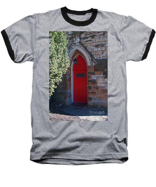 Red Church Door Baseball T-Shirt