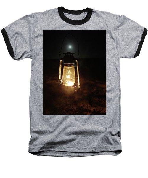 Kerosine Lantern In The Moonlight Baseball T-Shirt by Exploramum Exploramum
