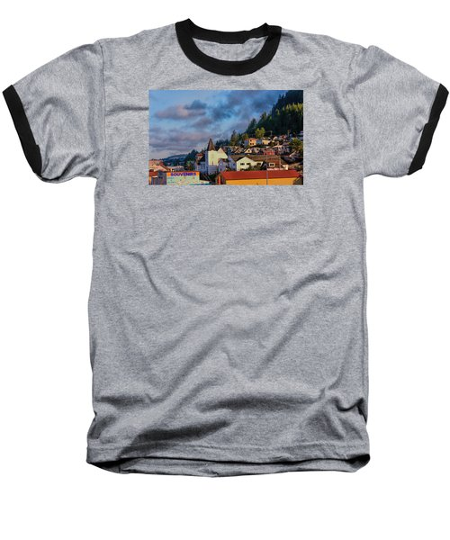 Ketchikan Morning Baseball T-Shirt by Lewis Mann
