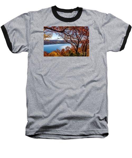 Keuka Lake Vista Baseball T-Shirt by William Norton