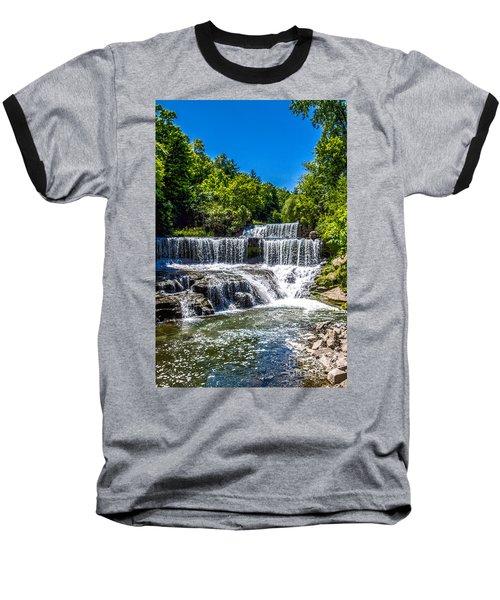 Keuka Outlet Waterfall Baseball T-Shirt