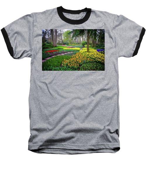 Keukehof Botanic Garden 2015 Baseball T-Shirt