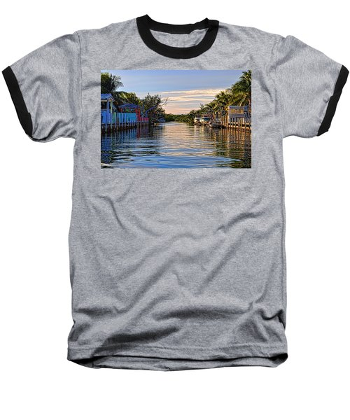 Key Largo Canal Baseball T-Shirt