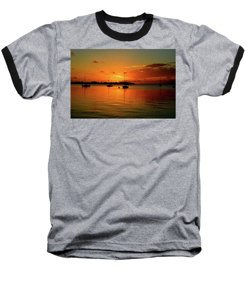 Key Largo Sunset Baseball T-Shirt