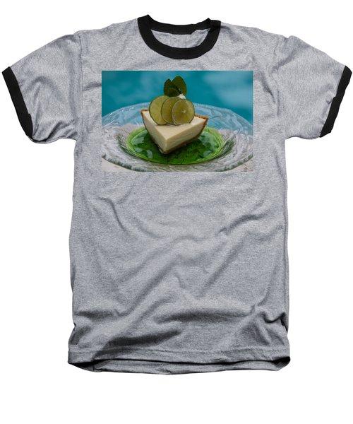 Key Lime Pie 25 Baseball T-Shirt by Michael Fryd