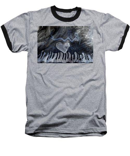 Baseball T-Shirt featuring the digital art Key Waves by Linda Sannuti