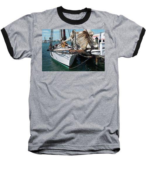 Key West Appledore Sailboat Baseball T-Shirt