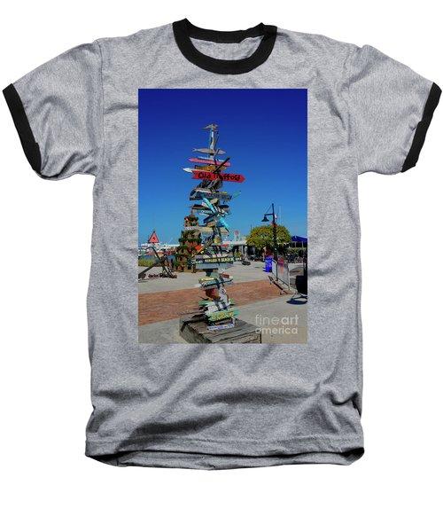 Key West Destination Sign Baseball T-Shirt
