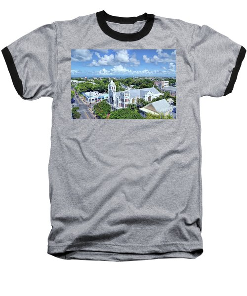 Baseball T-Shirt featuring the photograph Key West by Olga Hamilton