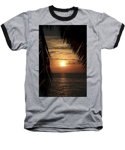 Key West Palm Sunset 2 Baseball T-Shirt