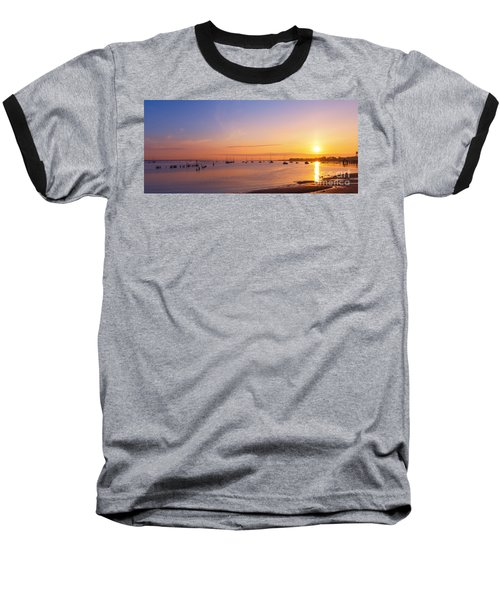 Keyport Harbor Sunrise  Baseball T-Shirt