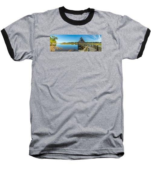 Kiawah Island Boathouse Panoramic Baseball T-Shirt