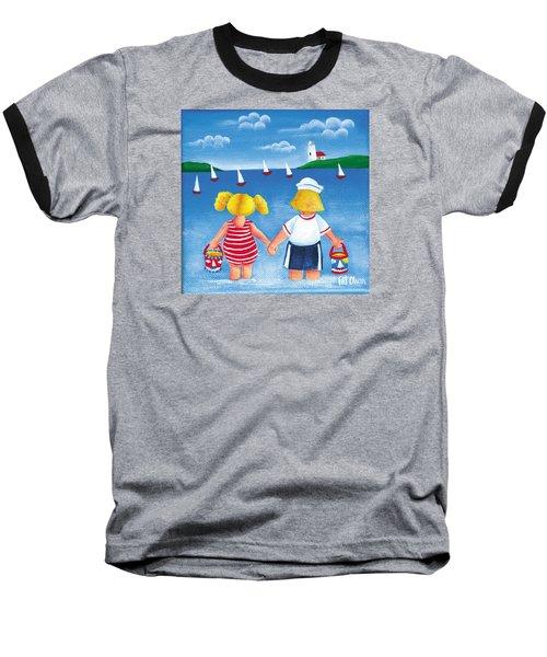 Kids In Door County Baseball T-Shirt