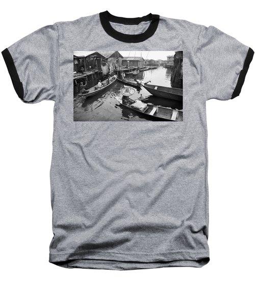 Waterways And Canoes Baseball T-Shirt