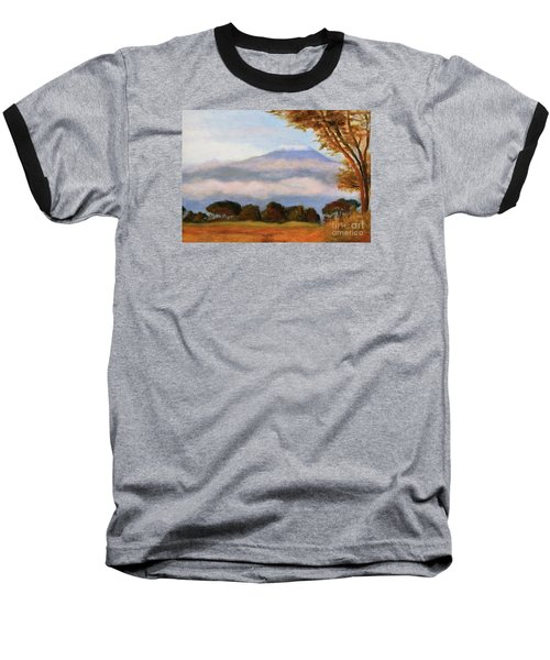 Baseball T-Shirt featuring the painting Kilamigero by Marcia Dutton