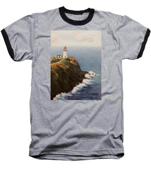 Kilauea Lighthouse Baseball T-Shirt by Alan Mager