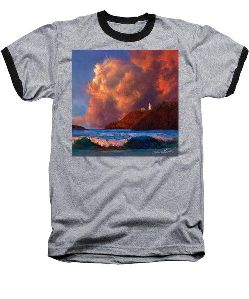 Kilauea Lighthouse - Hawaiian Cliffs Sunset Seascape And Clouds Baseball T-Shirt