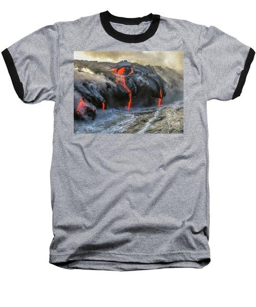 Kilauea Volcano Hawaii Baseball T-Shirt