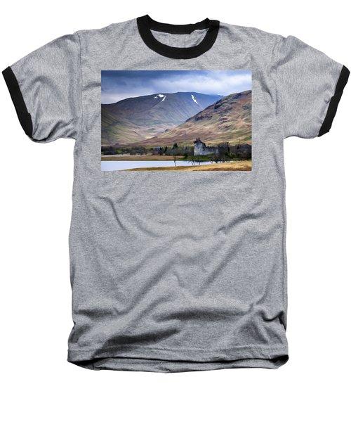 Kilchurn Castle On Loch Awe In Scotland Baseball T-Shirt