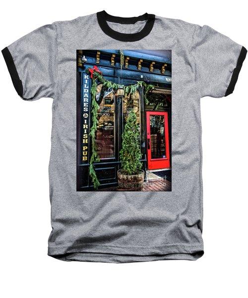 Kildares Irish Pub At Christmas Baseball T-Shirt