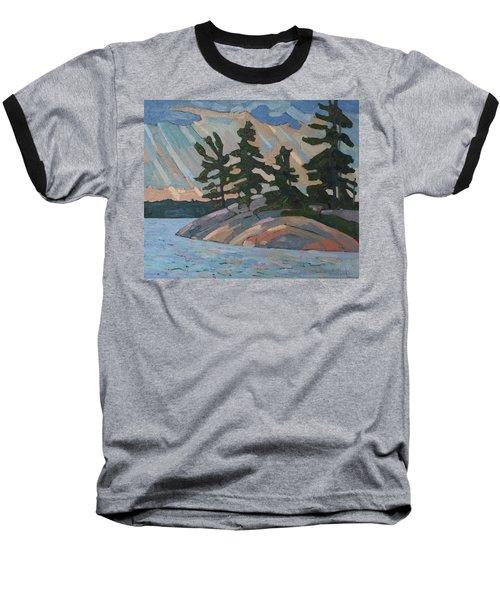Killbear Pines And Morning Crepuscular Rays Baseball T-Shirt