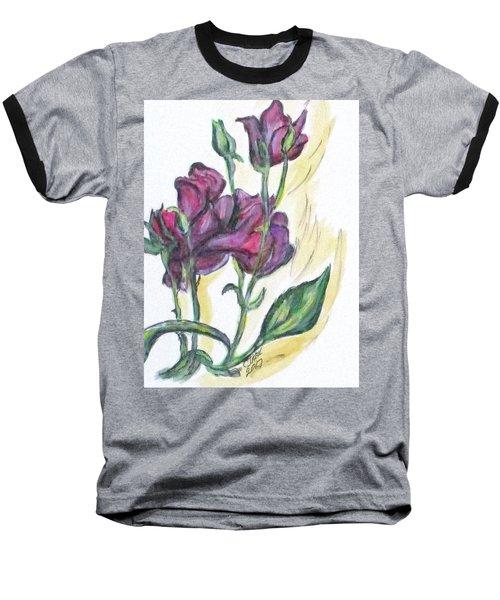 Kimberly's Spring Flower Baseball T-Shirt by Clyde J Kell