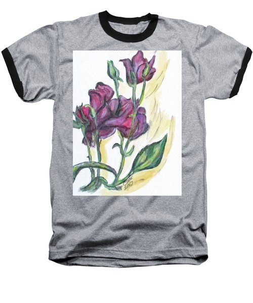 Kimberly's Spring Flower Baseball T-Shirt