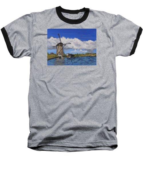 Kinderdijk Baseball T-Shirt by Diane Arlitt