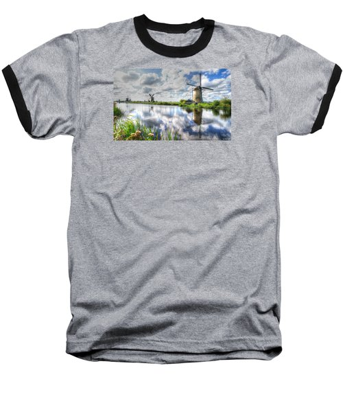 Kinderdijk Baseball T-Shirt by Uri Baruch
