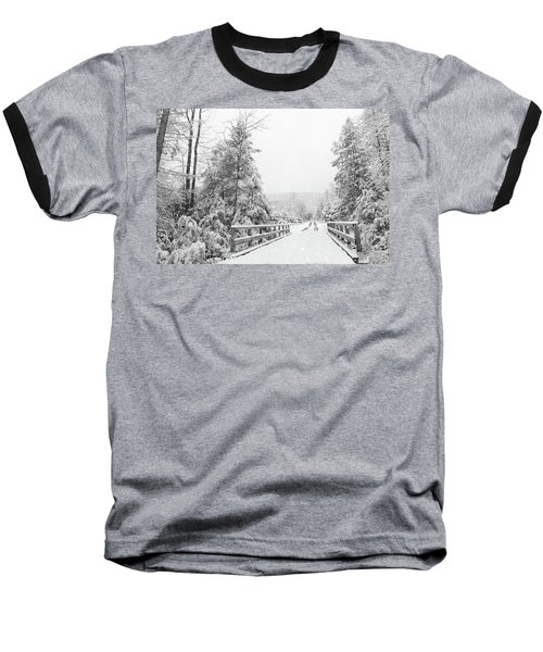 Baseball T-Shirt featuring the photograph Kindness Is Like Snow by Lori Deiter