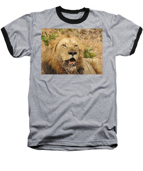 Baseball T-Shirt featuring the photograph King by Betty-Anne McDonald