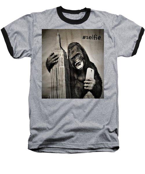 King Kong Selfie Baseball T-Shirt