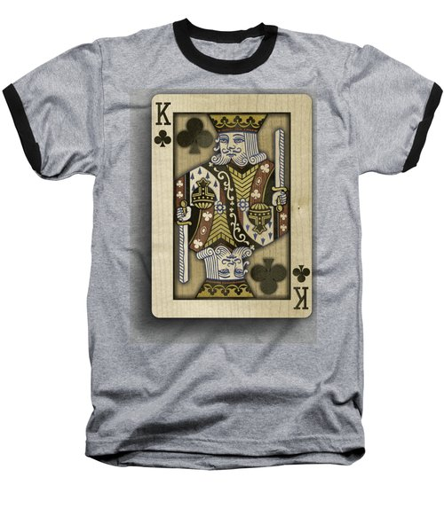 King Of Clubs In Wood Baseball T-Shirt