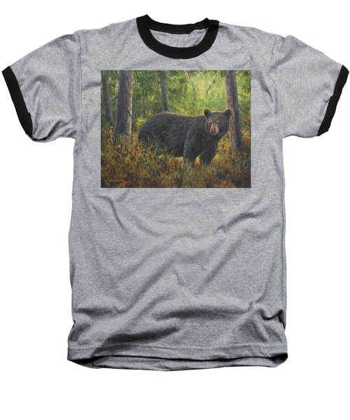 Baseball T-Shirt featuring the painting King Of His Domain by Kim Lockman