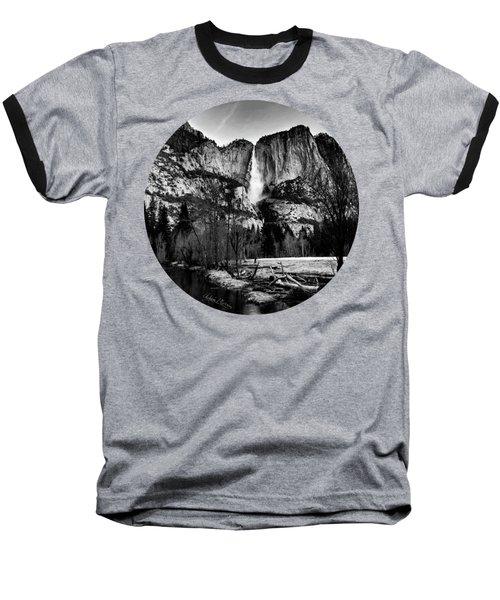 King Of Waterfalls, Black And White Baseball T-Shirt