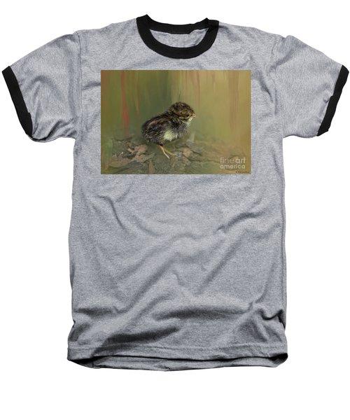King Quail Chick Baseball T-Shirt