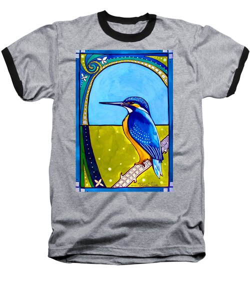 Kingfisher Baseball T-Shirt by Dora Hathazi Mendes