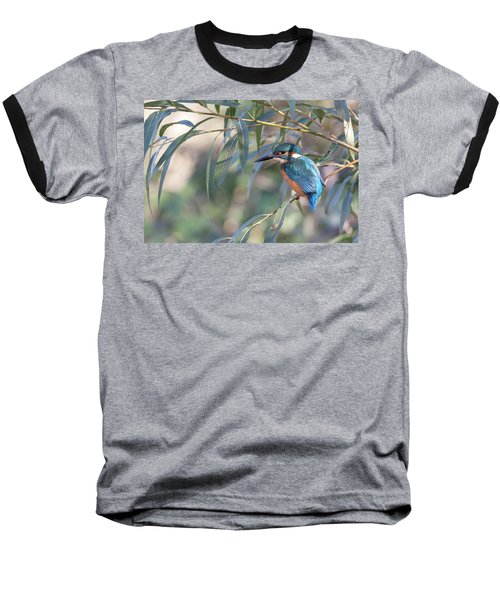 Kingfisher In Willow Baseball T-Shirt
