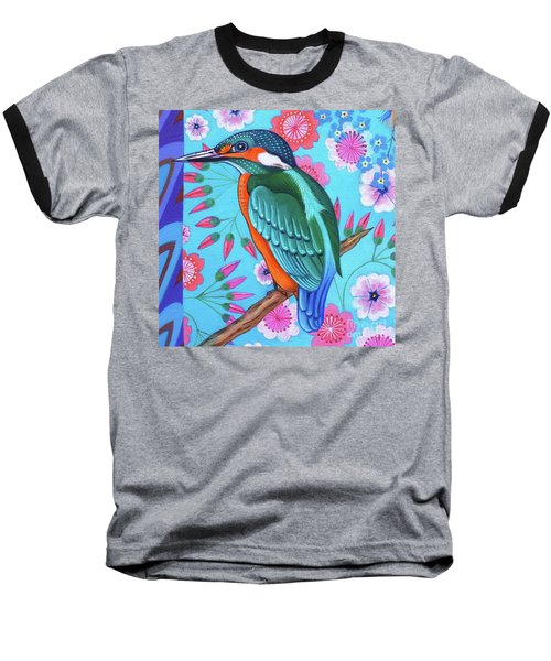 Kingfisher Baseball T-Shirt by Jane Tattersfield