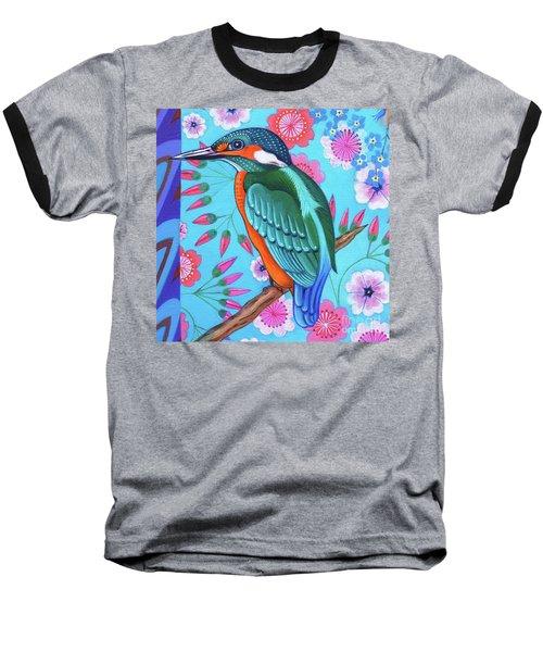 Kingfisher Baseball T-Shirt by Jane Tattersfield