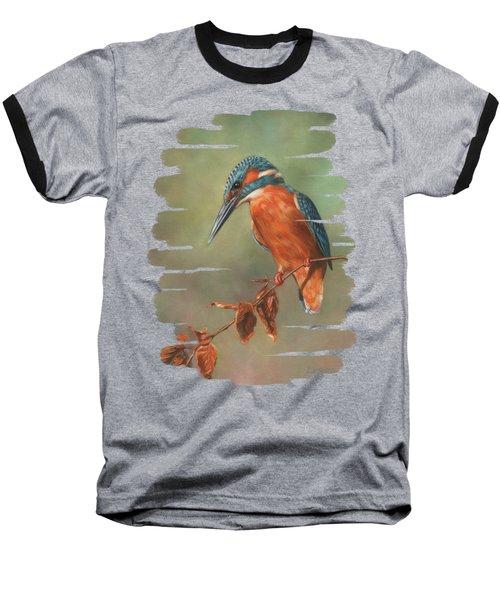 Kingfisher Perched Baseball T-Shirt