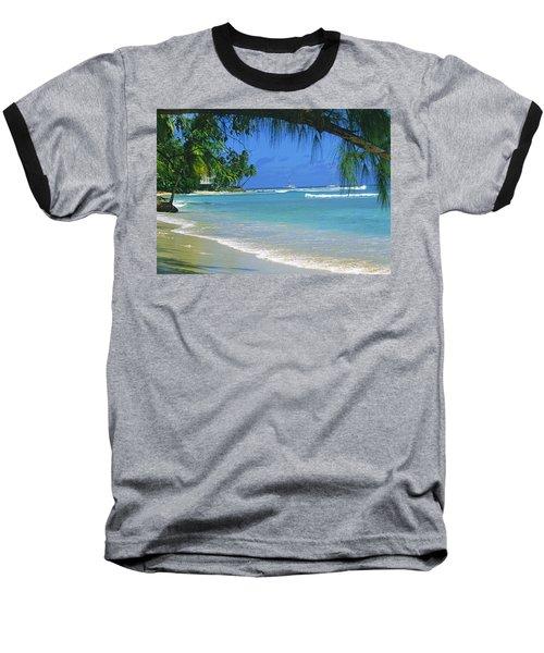 King's Beach, Barbados Baseball T-Shirt
