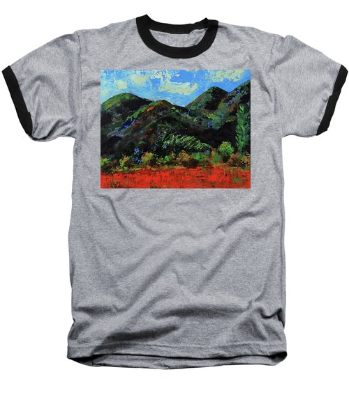 Baseball T-Shirt featuring the painting Kings Canyon Fall Colors by Walter Fahmy