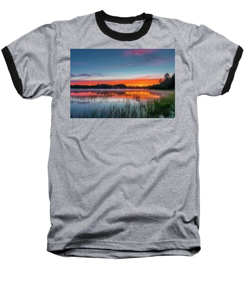 Kingston Lake Sunset Baseball T-Shirt