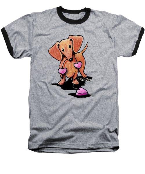 Kiniart Heartstrings Doxie Baseball T-Shirt