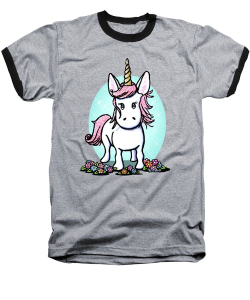 Kiniart Unicorn Sparkle Baseball T-Shirt