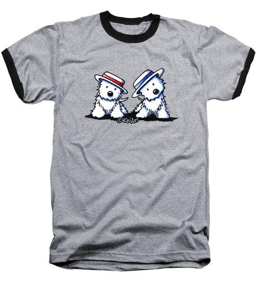 Kiniart Westie Dancing Duo Baseball T-Shirt